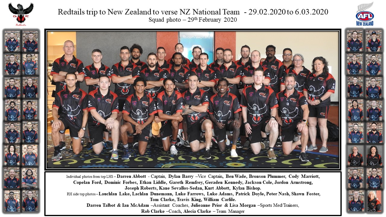 Redtails v NZ squad photo 29.02.2020
