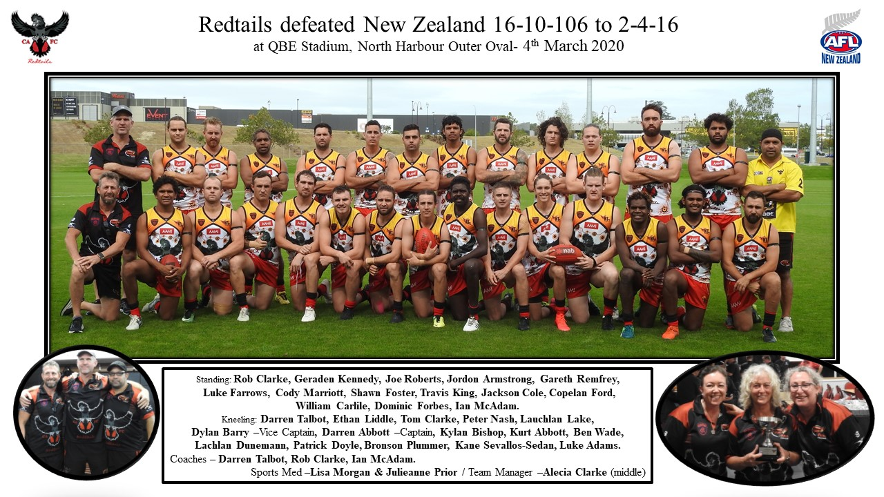 Redtails v NZ team photo 4.03.2020