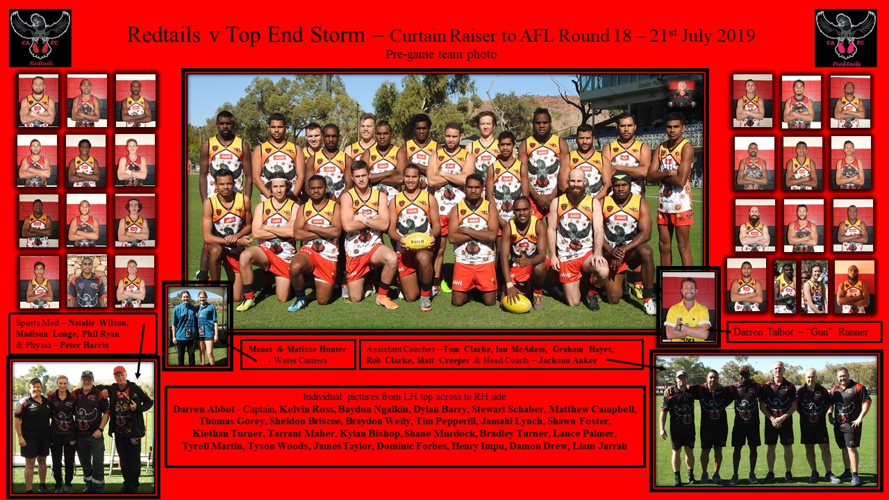 Redtails v Top End Storm 21.07.2019 team photo