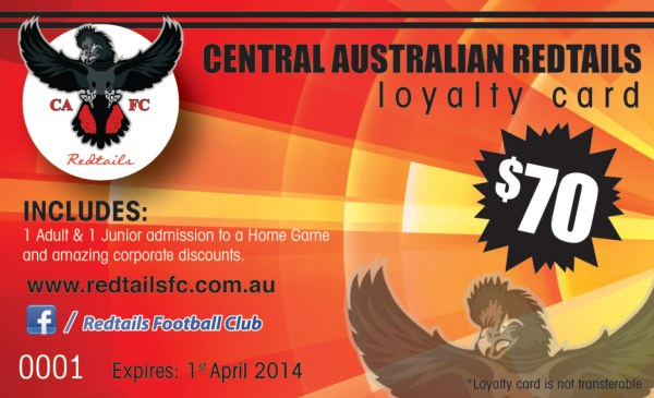 Redtails Membership Loyalty Card